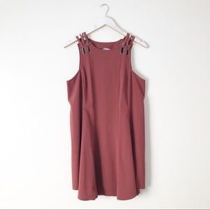 Free People Red Baby Love Trapeze Casual Dress